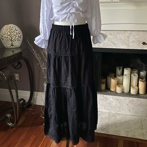 Lindor Bohemian Black Skirt